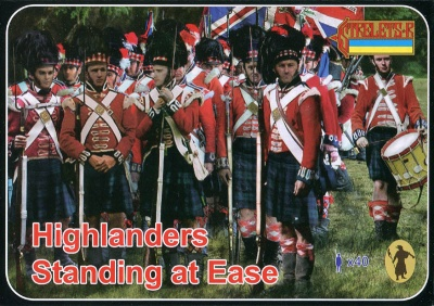 163 - Napoleonic Highlanders Standing at Ease