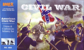603 Union/Confederate /Infantry Complete Set.