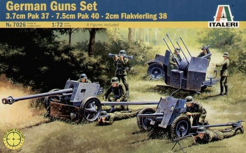 7026 - GERMAN GUNS SET: PAK35-PAK40-FLAK38