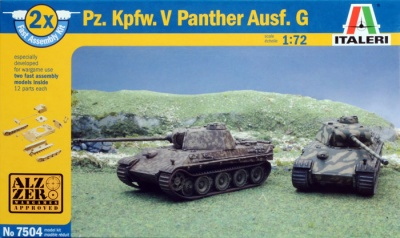 7504 - GERMAN PZ. KPFW. V PANTHER AUSF.G - FAST ASSEMBLY