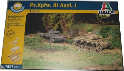 7507 GERMAN PZ KPFW III AUSF J - FAST ASSEMBLY