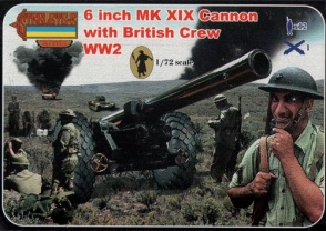 A004 - 6 Inch Mk.XIX Cannon with British Crew (WWII)