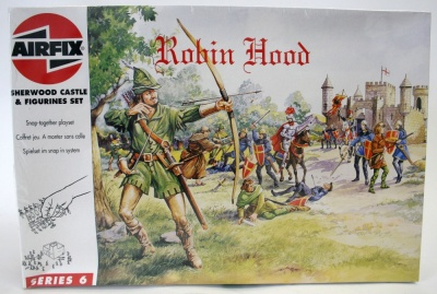 AIRFIX ROBIN HOOD + SHERWOOD  CASTLE - KIT PLASTIC MODEL DA COLLEZIONE