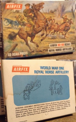 Airfix - S31-69 WWI Royal Horse Artillery - Blue Box