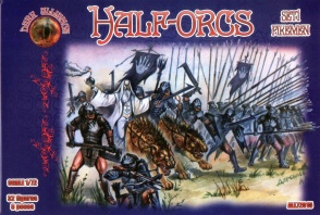 Alliance 1/72 72015 Half-Orcs (Set.1 : Pikeman) (32 Figures, 8 Poses)