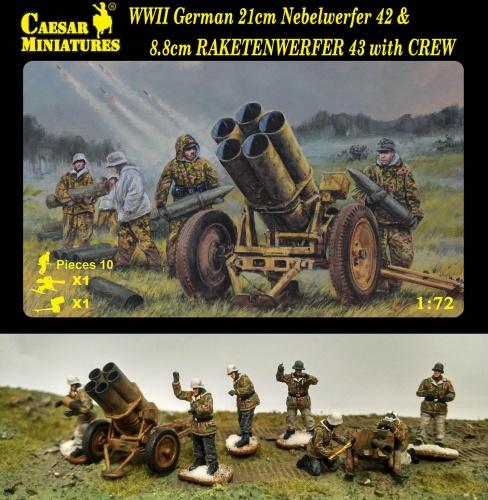 Новинки Caesar Miniatures - Страница 3 H093-WWII-German-21cm-Nebelwerfer-42-big-3932-574