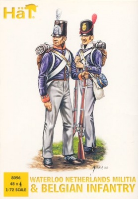 HAT 8096 Waterloo Netherlands Militia and Belgian Infantry