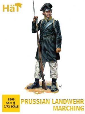 HAT 8309 - Napoleonic Prussian Landwehr Marching (56 figures/box)