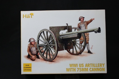 HaT  8158  WWI US Artillery with 75mm Cannon