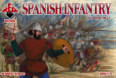 RB72096 - Spanish Infantry (Set1) 16 century