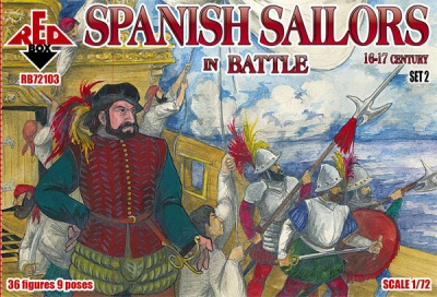 RB72103 Spanish Sailors  in battle 16-17 century - set 2