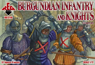 RB72110  Burgundian infantry and knights (set 2). 15 century - 32 figures