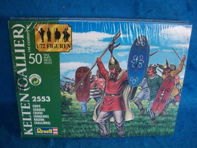 REVELL TOY SOLDIERS 1/72 - ANCIENT 2553 Celts (Gauls)  - RARE BOX