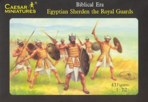 Set H050  Egyptian Sherden the Royal Guards