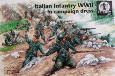 Waterloo 1815 -  040 WWII Italian Infantry (Campaign Dress)