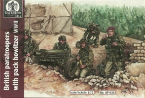 036	World War II British Paratroopers with Pack Howitzer