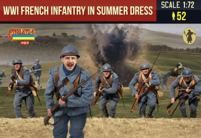 134 	French Infantry in Summer Dress	WWI
