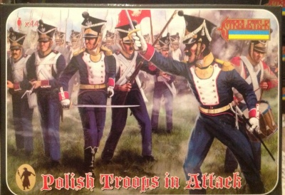 144 Napoleonic Polish Infantry in Attack