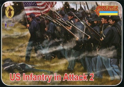 153 - A.C.W. US Infantry in Attack 2 - Gettysburg