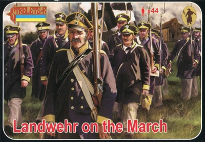 168 Napoleonic Landwehr on the March