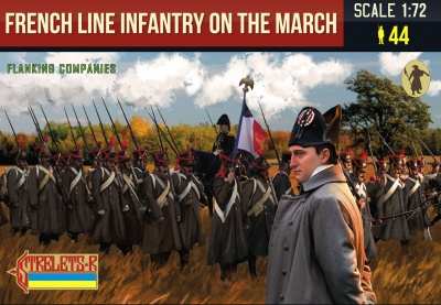 173 French Line Infantry on the March 1 (Flanking Companies) Napoleonic