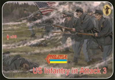179 A.C.W. Union Infantry in Attack 3 Gettisburg