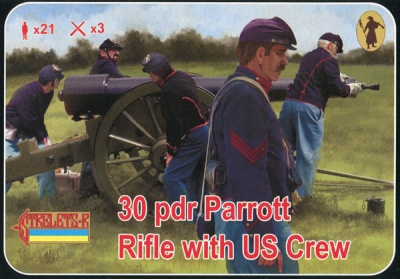 182 ACW Artillery - 30 pdr Parrott Rifle with US crew