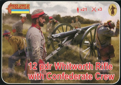 183 ACW Artillery - Whitworth Rifle with Confederate Crew