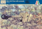 6096S GERMAN PAK 40 GUN WITH SERVANT