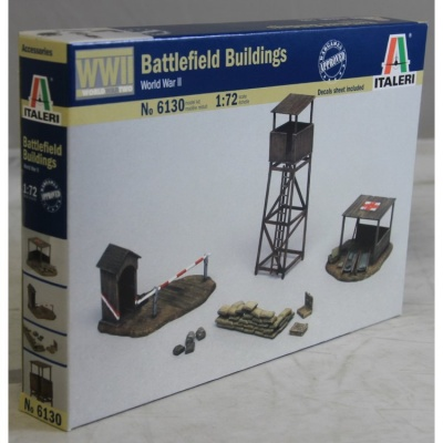 6130 MILITARY WWII BATTLEFIELD BUILDINGS KIT