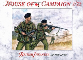 67 British Infantry of the 1970's #  1/72 House of Campaign