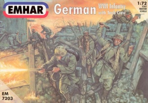 7203  German WWI Infantry with Tank Crew