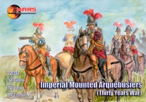 72037	Thirty Years War Imperial Mounted Arquebusiers