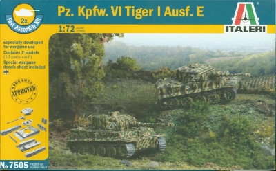 7505 GERMAN Pz. Kpfw. VI TIGER I Ausf. E - FAST ASSEMBLY