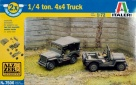 7506S WWII ¼ Ton 4x4 Truck (include 2 modelli) Fast Assembly