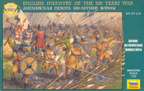 8060 English Infantry of the 100 Years War
