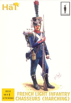 8219 Napoleonic French Light Infantry Chasseurs (Marching)