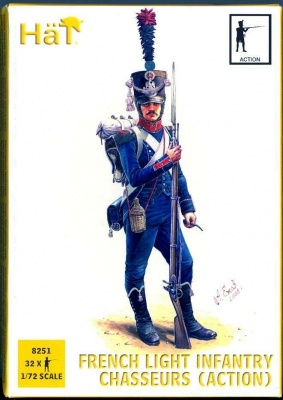 8251 Napoleonic French Light Infantry Chasseurs (Action)