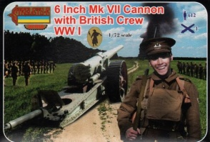 A001  8 Inch Mk.VII Cannon with British Crew (WWI)