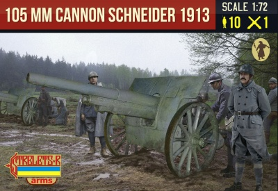 A015 FRENCH Canon de 105 mle 1913 Schneider with French Crew WWI