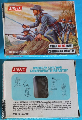 AIRFIX - S13-59 CIVIL WAR - Confederate Infantry - PRIMA EDIZIONE