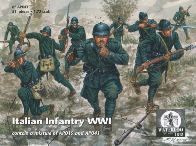 AP 043 - WWI Italian Infantry Set 2 - 51 figures