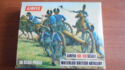 Airfix BLUEBOX S46-89 - R.H.A Waterloo British artillery.