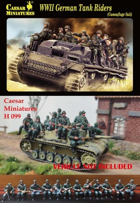 CMH099  1:72	WWII German Tank Rider (Camouflage Suit)