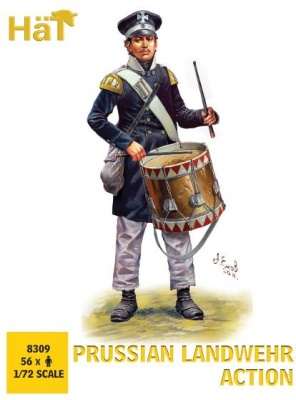 HAT 8310 - Napoleonic Prussian Landwehr Action (56 figures/box)