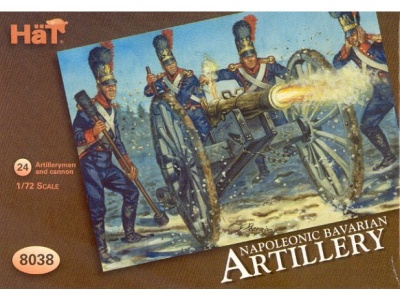 HAT8038 Napoleonic Bavarian Artillery 4 cannon with 24 crew