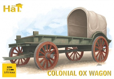 HAT8286  1:72 - Colonial Ox drawn Wagon (3 wagons per box)