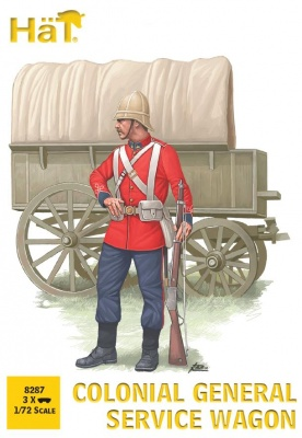 HAT8287  1:72 - Colonial General Service Wagon (3 wagons per box)