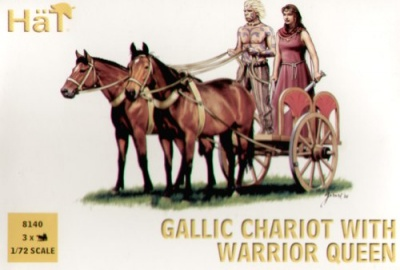 HaT ANCIENTS Set 8140  Gallic Chariot with Warrior Queen