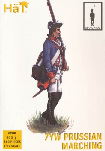 HaT  Set 8280  7YW Prussian Infantry Marching
